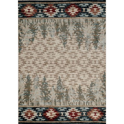 Alo Rectangle Rug Multi Warm