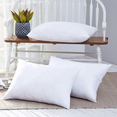Micro Gel Fiber Sleep Pillow Set of Two Ivory