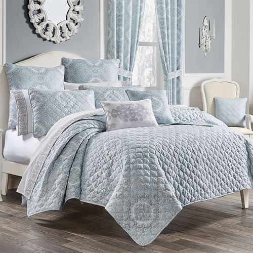 Claremont Mini Quilt Set Powder Blue