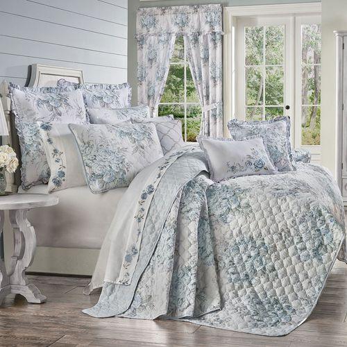 Estelle Floral Mini Quilt Set Pale Blue