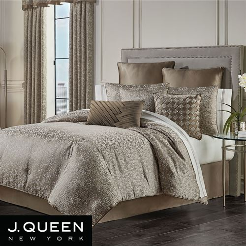 Cracked Ice Comforter Set Light Taupe