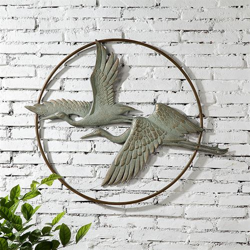 Herons in Flight Wall Art Bronze