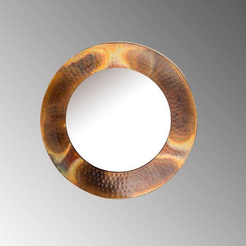 Emerett Round Wall Mirror Copper