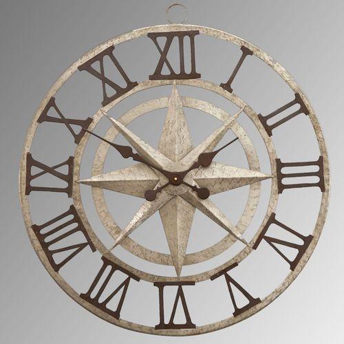 Compass Wall Clock Gray