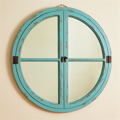 Sea Mist Round Wall Mirror Aqua