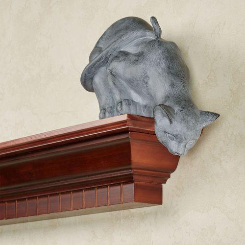 Curious Cat Shelf Sitter Gray