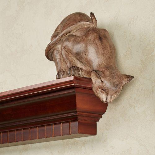 Curious Cat Shelf Sitter Mocha