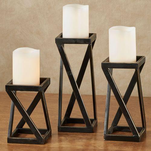 Mylle Candleholders Black Set of Three