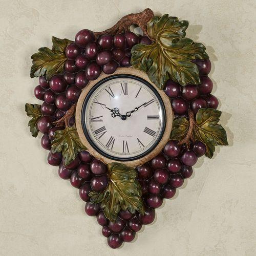 Grape Harvest Wall Clock Sangria