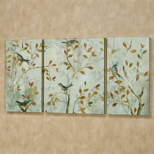 Morning Song Triptych Canvas Wall Art Set Multi Cool