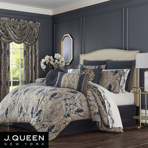 Luciana II Comforter Set Denim