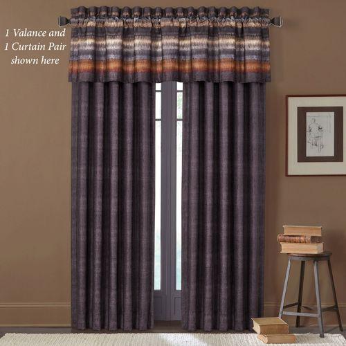 Mesa Wide Tailored Curtain Pair Multi Warm 100 x 84