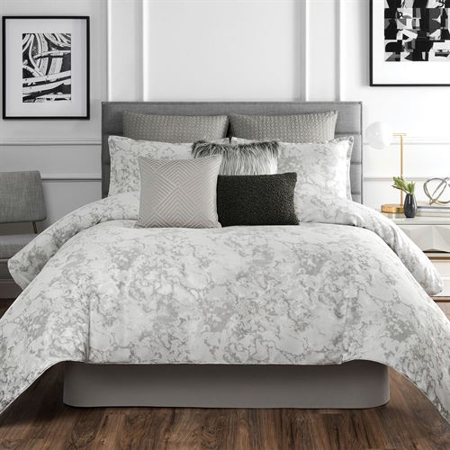 Normandy Comforter Set Platinum Gray