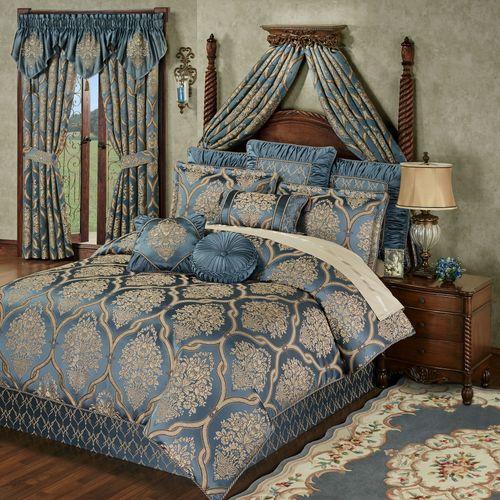 Castleton Comforter Set Steel Blue