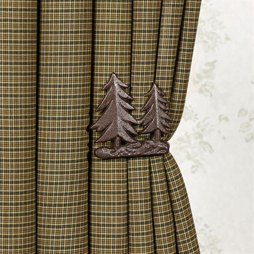 Pine Tree Curtain Holdback Pair Brown