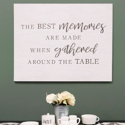 The Best Memories Wall Art Sign Weathered White