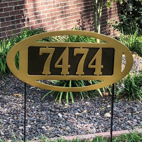Fairway Classic II Yard Address Stake Gold/Bronze