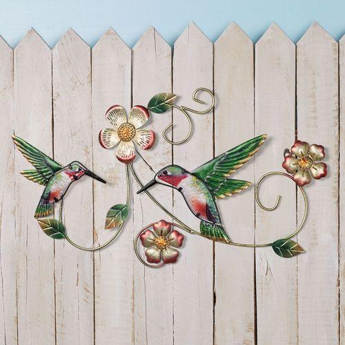 Hummingbird Garden Wall Art Multi Earth