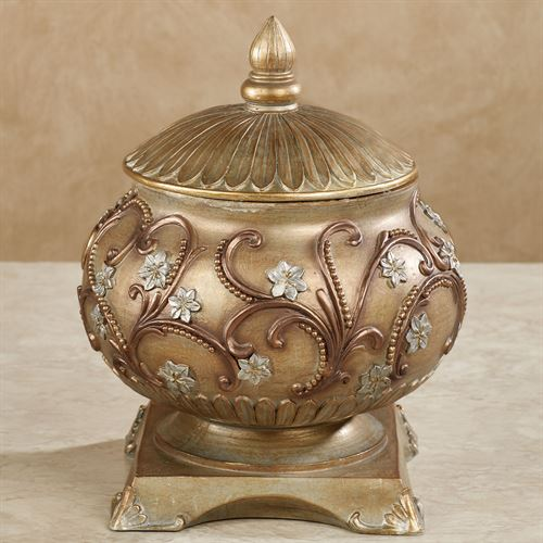 Brynne Decorative Covered Jar Multi Metallic