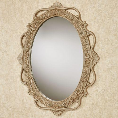 Abriella Oval Wall Mirror Beige