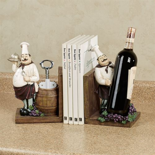 Chefs Gourmet Bookend Pair Multi Earth