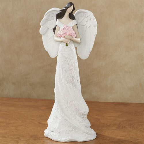 Angel with Roses Figurine White