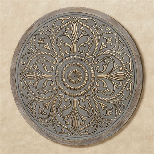 Maegan Medallion Wall Art Gray
