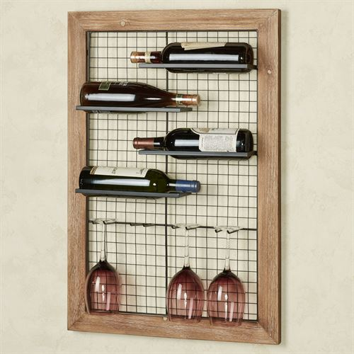 Industrial Wall Wine Rack Black