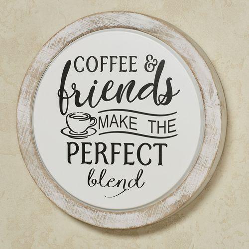 Coffee Wall Plaque Black/White