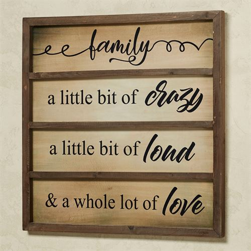 A Little Bit of Family Wall Plaque Natural