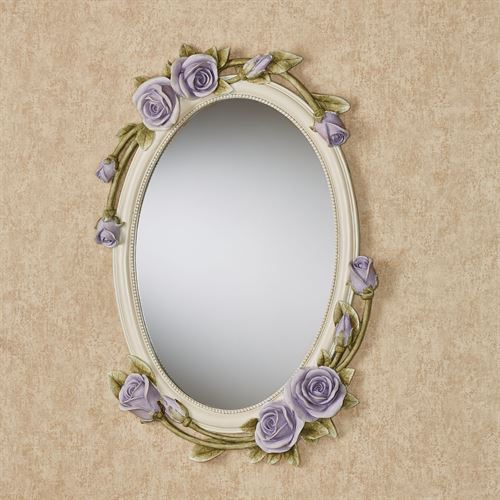 Rose Melody Oval Wall Mirror Purple