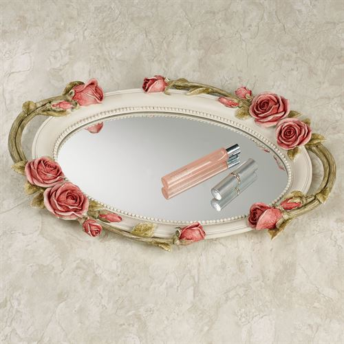 Rose Melody Mirrored Vanity Tray