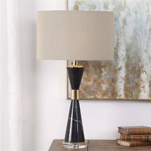 Alastair Table Lamp Black/Gold