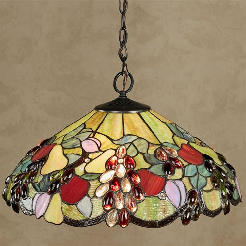 Abundant Fruit Stained Gl Kitchen Dining Hanging Ceiling Light
