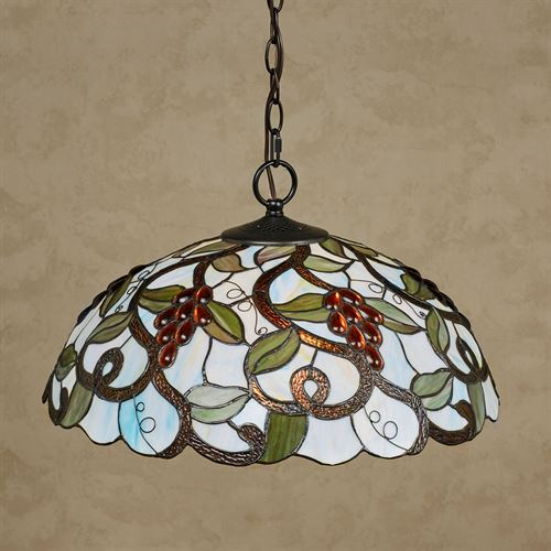 Sweet Jubilee Grapes Stained Glass Kitchen Dining Hanging Ceiling Light