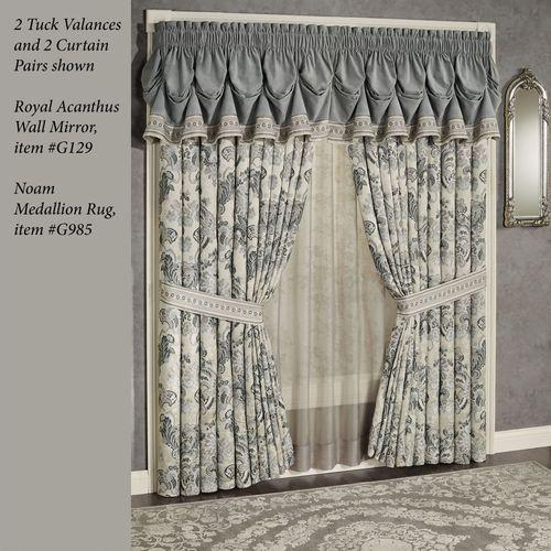 Odesa Tuck Valance Dark Gray 75 x 20