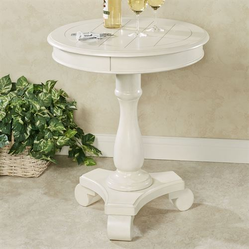 Bellview Pedestal Table Whitewash
