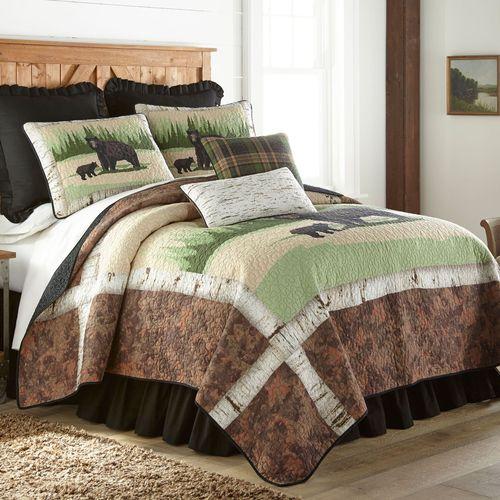 Birch Bear Quilt Multi Warm