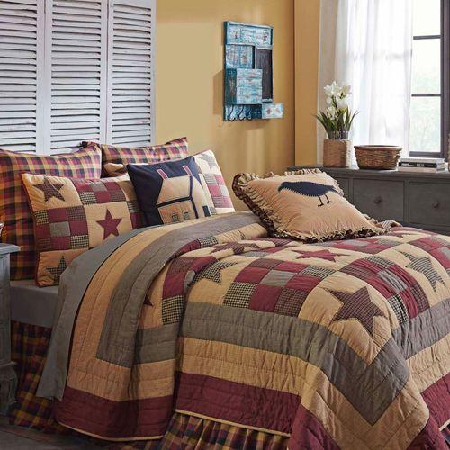 Ninepatch Star Patchwork Mini Quilt Set Multi Warm