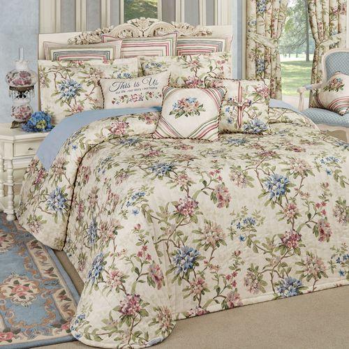Chatsworth Grande Bedspread Set Light Cream