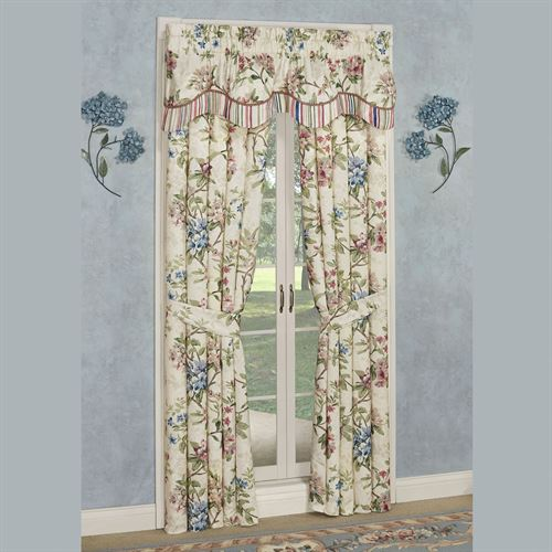 Chatsworth Layered Valance Only Light Cream 60 x 18