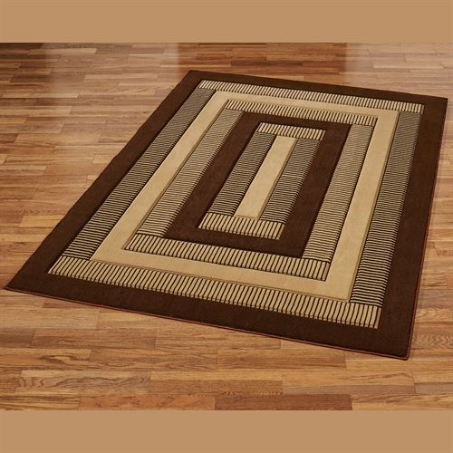 Park Place Rectangle Rug Brown