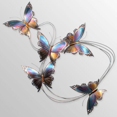 Butterfly Flight Path I Wall Sculpture Multi Jewel
