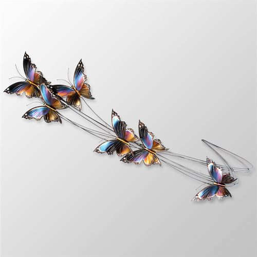 Butterfly Flight Path II Wall Sculpture Multi Jewel