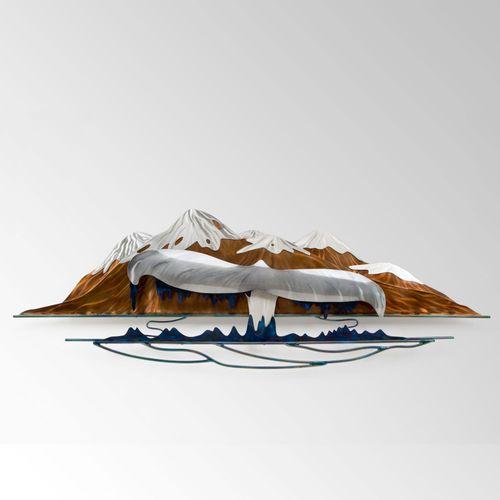 Whales Tail Splendor Wall Sculpture Multi Metallic