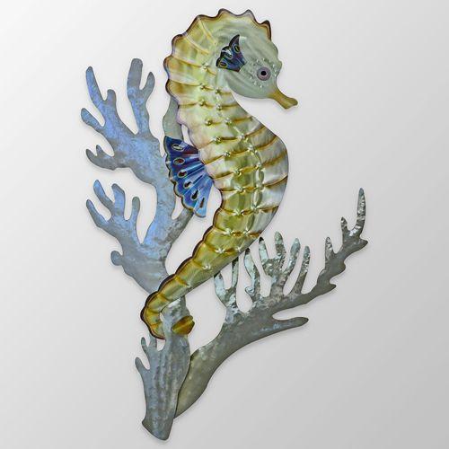 Seahorse Coral Wall Sculpture Multi Metallic