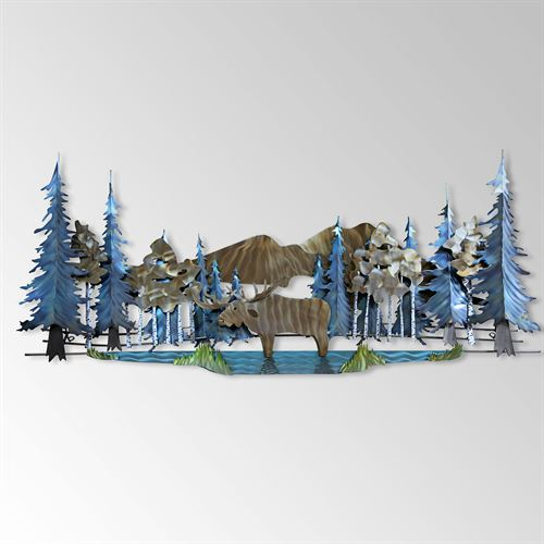 Moose Pond Wall Sculpture Bronze