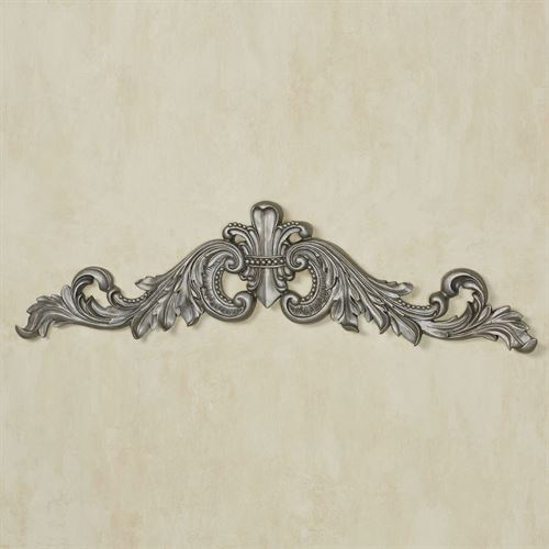 Sidoria Scroll Door Topper Aged Silver