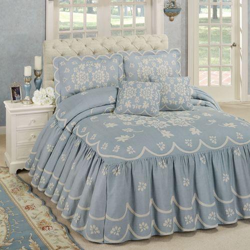 Primrose Grande Bedspread Set Sterling Blue