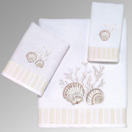 Destin Bath Towel Set White Bath Hand Fingertip